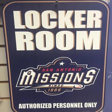 San Antonio Missions Locker Room Sign
