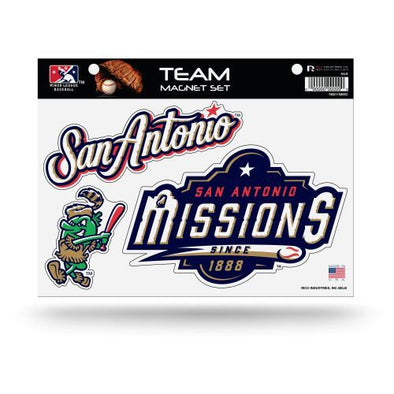 San Antonio Missions 3-Piece Team Magnet Set
