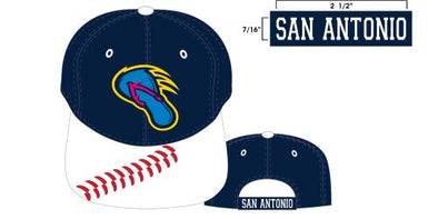 San Antonio Missions Flying Chanclas De San Antonio Youth Cobra Cap