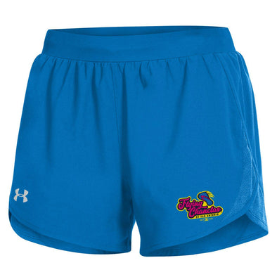 San Antonio Missions Flying Chanclas De San Antonio Under Armour Ladies Fly By Shorts - Powder Keg Blue