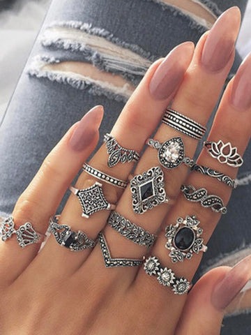 Retro Personality Ring Set of 15