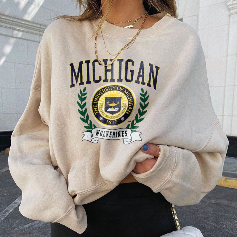 Vintage Printed Color Long Sleeve Sweatshirt