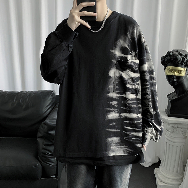 Trendy tie-dye sweatershirt