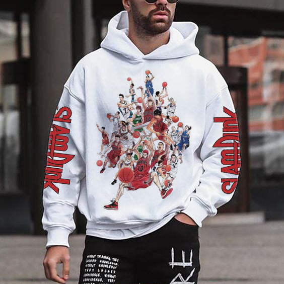 Men's fashion casual sports printed sweater