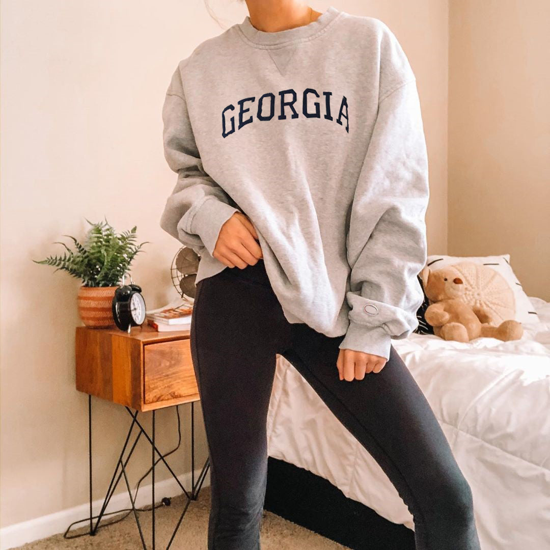 Printed round neck casual basic sweatshirt wq42