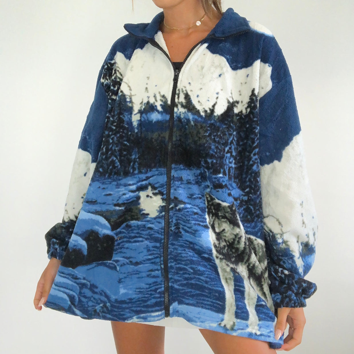 Snow Mountain Wolf Flannel Jacket