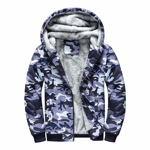 Fashion casual camouflage zip-up long sleeves hooded jacket DWQ05