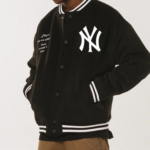 Ripped new york yankees college jacket