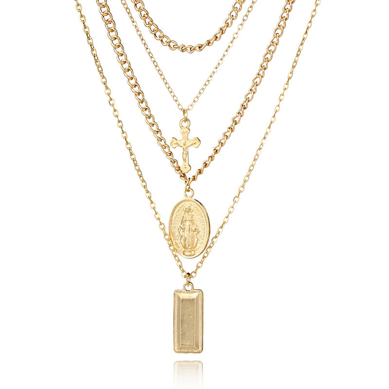 Lady Mary New Cross Maria Ladies Multi-layer Necklace