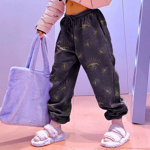 Modern Printed Color Loose Jogger