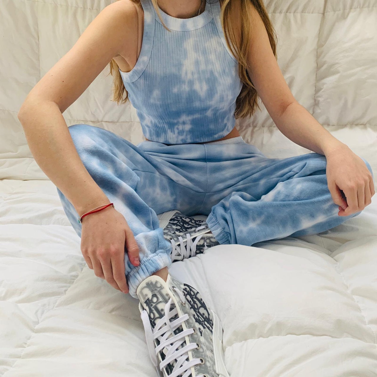 Navy Tie-dye Sweat Suit Set