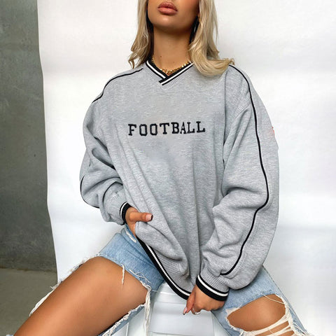 Basic sports print sweatshirt