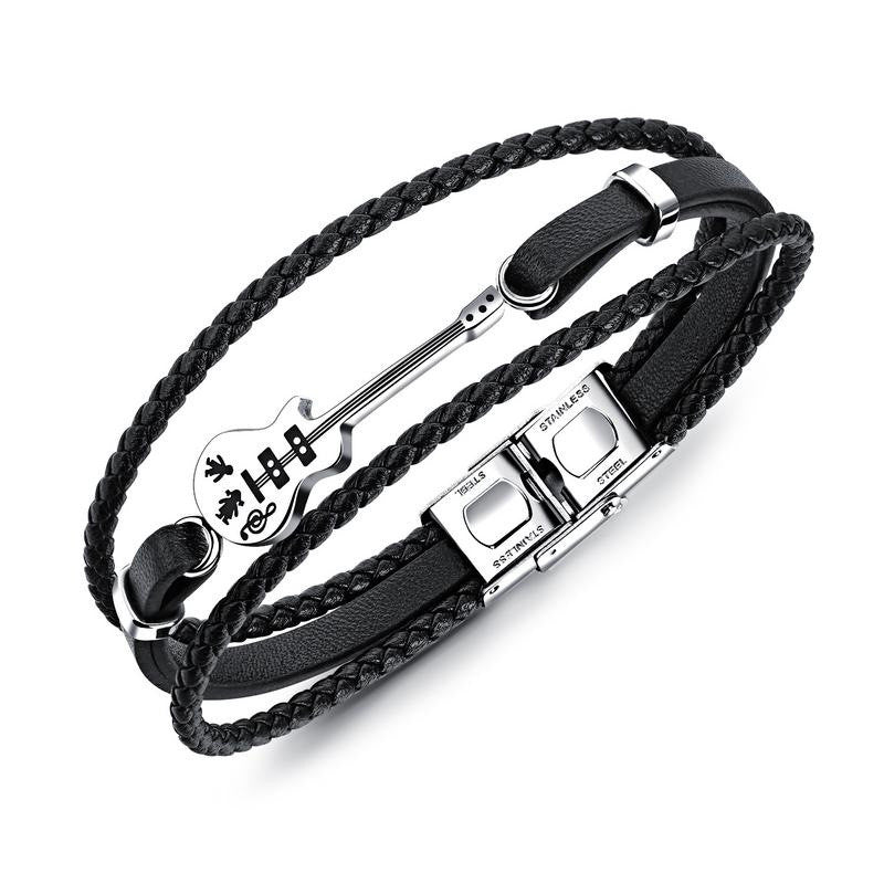 Men's Fashion Guitar Braided Bracelet