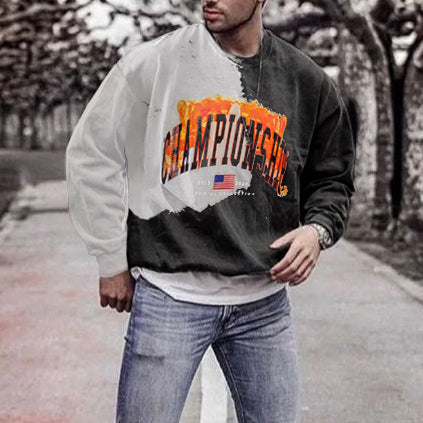 Mens Vintage basic long sleeve sweatshirt