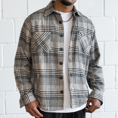 Mens grey check shirt