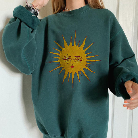 Basic casual wild long sleeve pullover sweatshirt