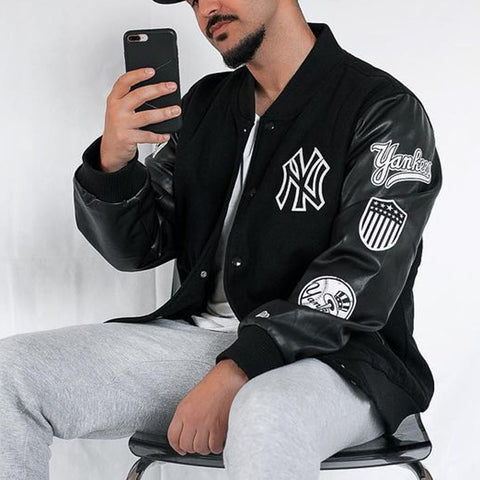 New York Yankees leather baseball jacket