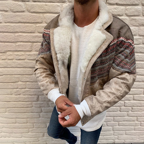 Fashion Color Matching Men's Jacket