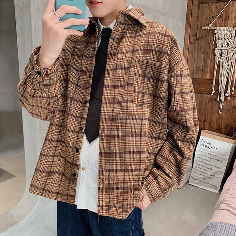 Vintage woolen plaid shirt