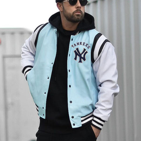 New york yankees color block baseball jacket