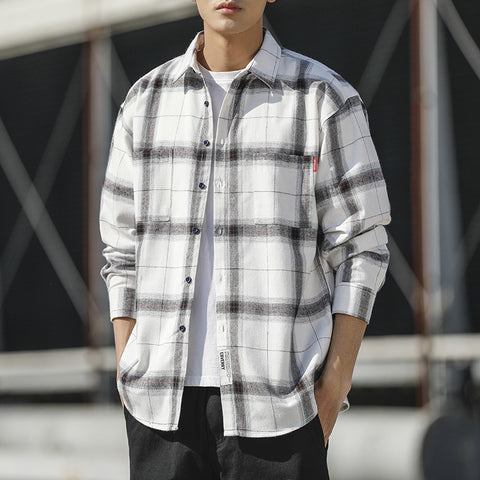 Casual Loose Plaid Long Sleeve Shirt