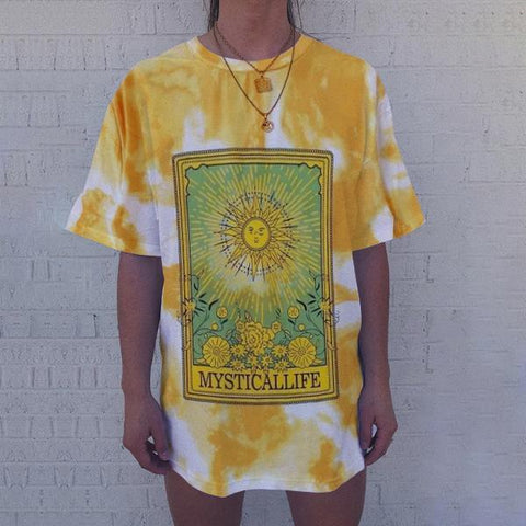 shirt with sun yellow