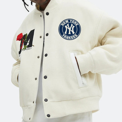 Rose forever new york yankees baseball jacket