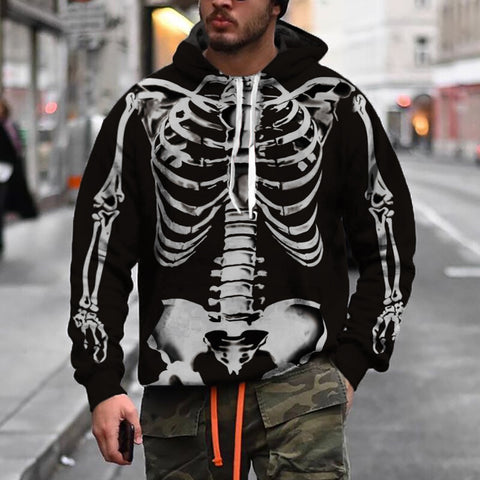 Men's Modern Casual Printed Color Long Sleeve Sweatshirt