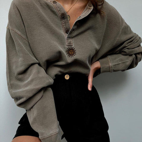 Ladies Casual Loose Long Sleeve Sweatshirt