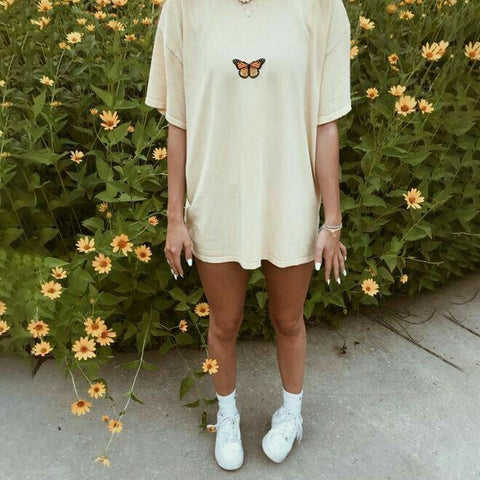Vintage Simple Butterfly T-shirt