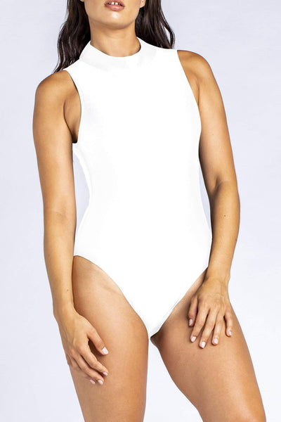 Her Society - Racer Cut Out - White - By ALLERTON