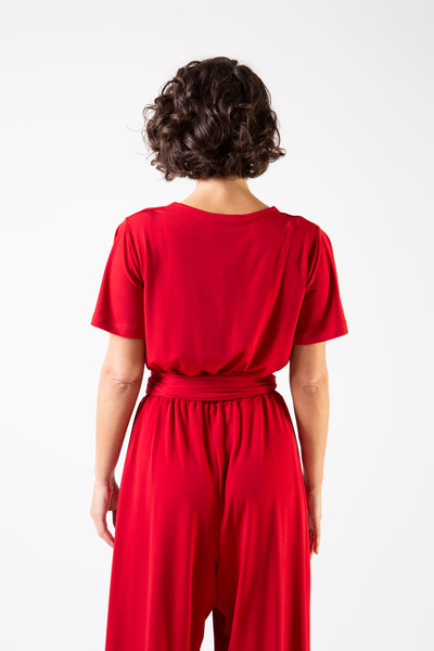 Her Society - Cleo Jumpsuit - Red - By embodydenim