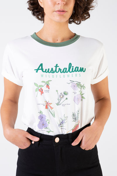 Her Society - Australian Wildflower Tee - By RYDER