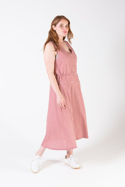 Her Society - Lorilee Midi Dress Gingham - By RYDER