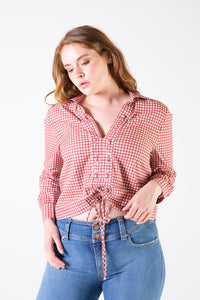 Her Society - Lorilee Shirt Gingham - By RYDER