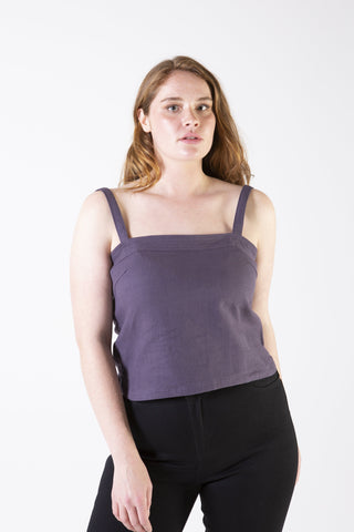 Her Society - Amy Linen Top - By RYDER