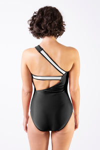 Her Society - Sporty One Shoulder One Piece - Black - By ALLERTON