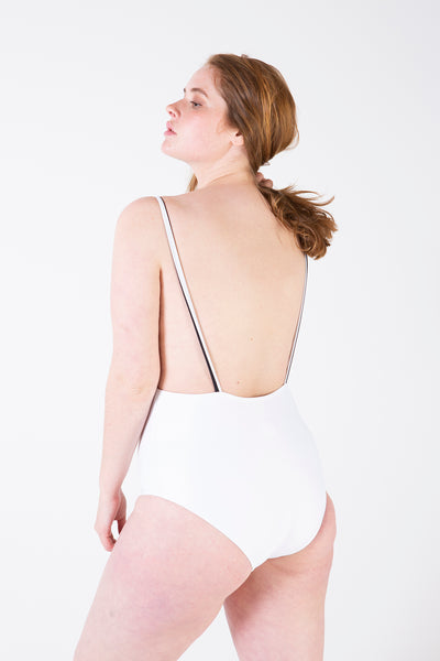 Her Society - Minimal Bandeau One Piece - White - By ALLERTON