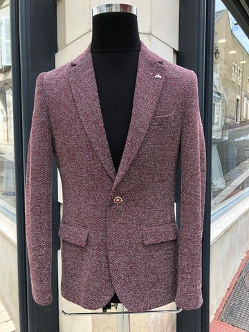 Veste blazer Rouge bordeaux