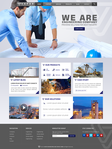 website for construction companies, engineering companies and manufacturers, created by stan consulting