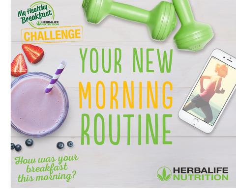 Herbalife Morning Breakfast Routine