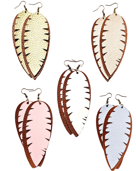 EARRINGS - Layered Leaves
