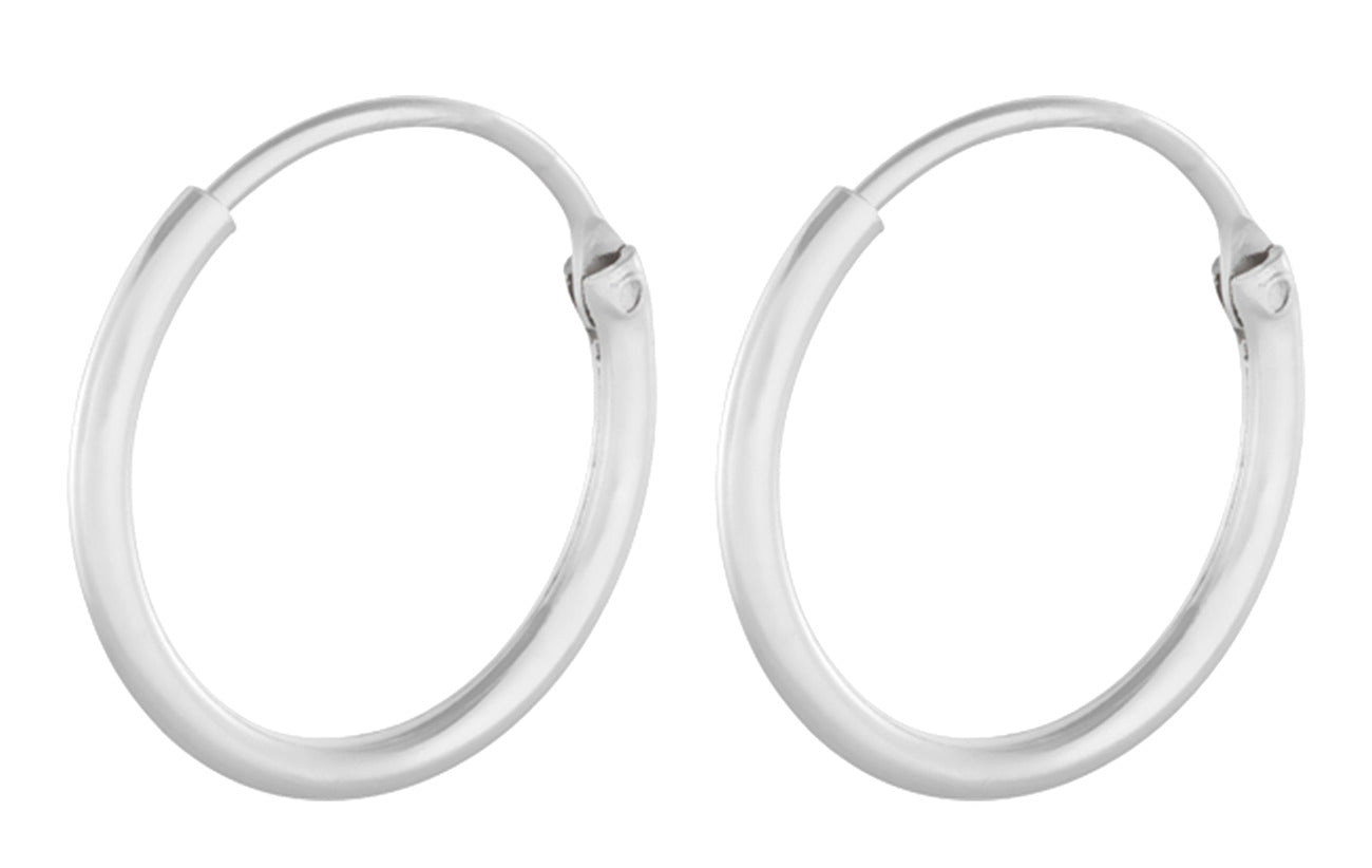 Tiny Plain Hoops , SØLV