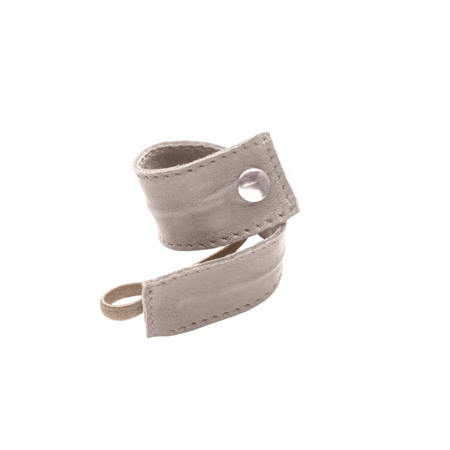 LEATHER BAND SHORT BENDABLE beige
