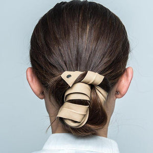 LEATHER BAND/HEADBAND LONG BENDABLE Beige