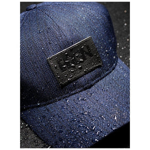 Solregn Caps, Blue Tweed
