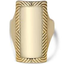 Impression Armour Ring, GULL JANE KØNING