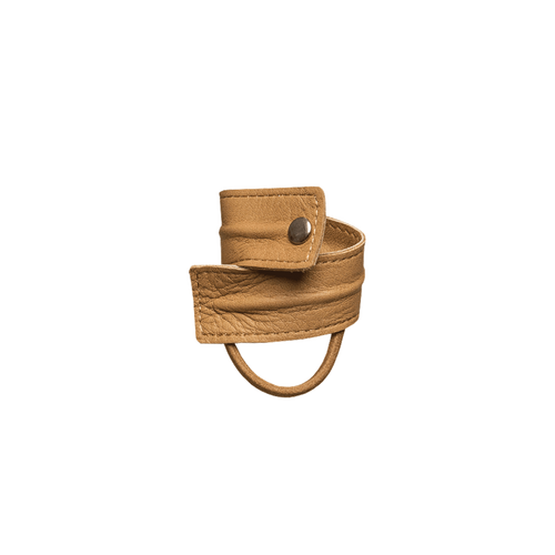 LEATHER BAND SHORT BENDABLE Camel