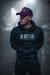 Rieco NS Hoodie Black/White - Rieco Clothing