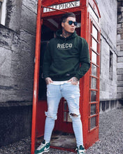 Load image into Gallery viewer, Rieco NS Hoodie Moss Green/White - Rieco Clothing